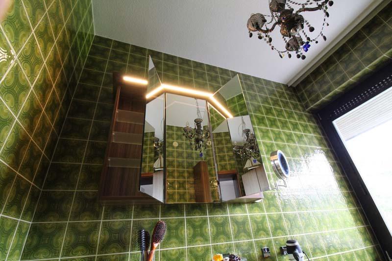 Spiegelschrank in Palisander